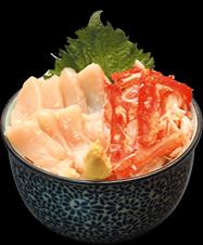 ホタテ・カニ丼